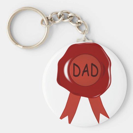 Fathers Day Wax Stamp Keychain