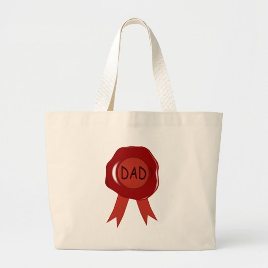 Fathers Day Wax Stamp Large Tote Bag