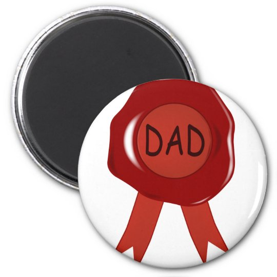 Fathers Day Wax Stamp Magnet
