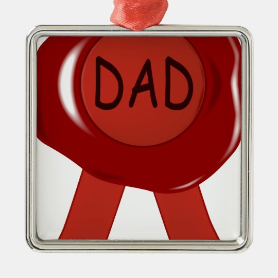Fathers Day Wax Stamp Metal Ornament