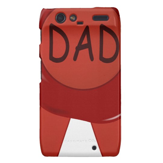 Fathers Day Wax Stamp Motorola Droid RAZR Cover