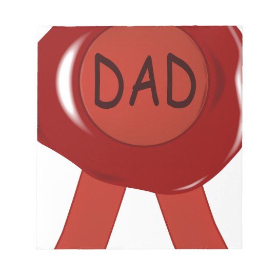 Fathers Day Wax Stamp Notepad