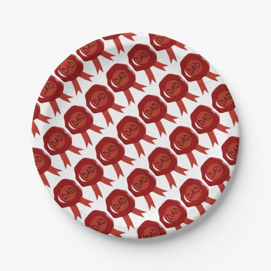 Fathers Day Wax Stamp Paper Plate