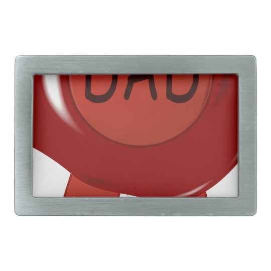 Fathers Day Wax Stamp Rectangular Belt Buckle