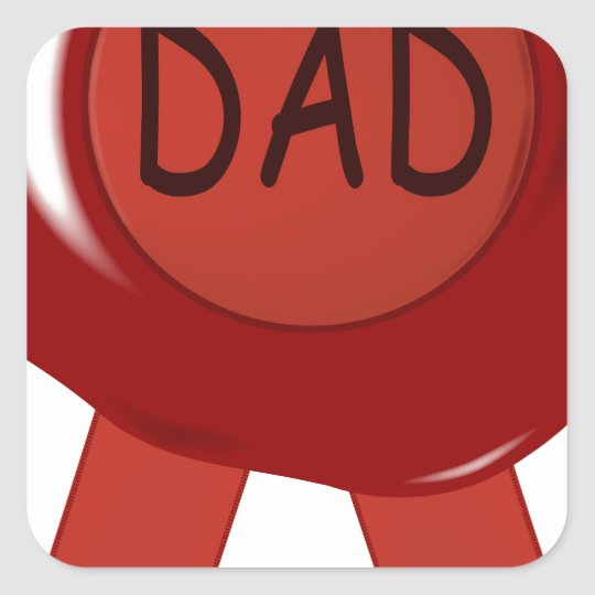Fathers Day Wax Stamp Square Sticker