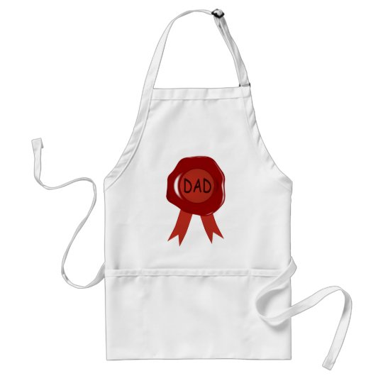 Fathers Day Wax Stamp Standard Apron