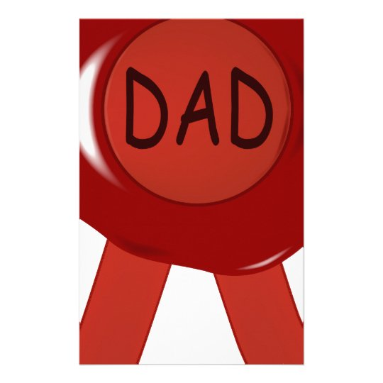 Fathers Day Wax Stamp Stationery