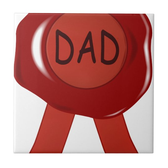 Fathers Day Wax Stamp Tile