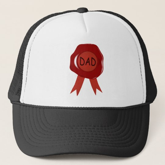 Fathers Day Wax Stamp Trucker Hat