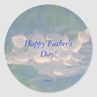 Father's Day White Clouds Painting Sticker