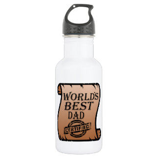 Father's DayWorld's Best Dad Certified Certificate 532 Ml Water Bottle