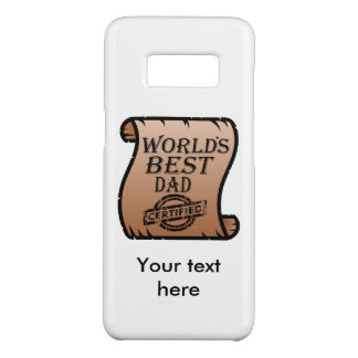 Father's DayWorld's Best Dad Certified Certificate Case-Mate Samsung Galaxy S8 Case