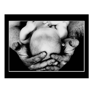 Father's Safe Protecting Hands Postcard