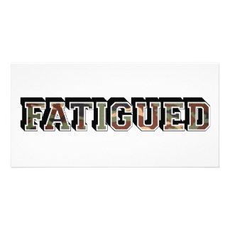 fatigues photo greeting card