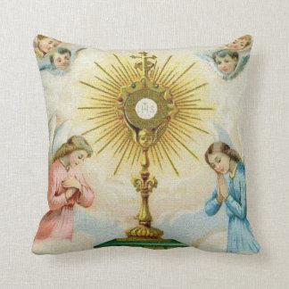 Fatima Angels Prayer Throw Pillow