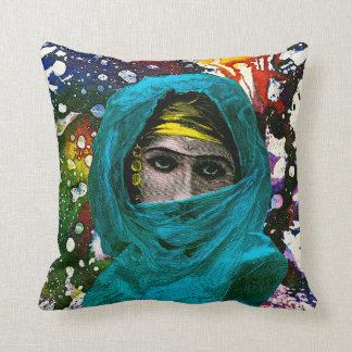 Fatima by Michael Moffa Throw Pillow
