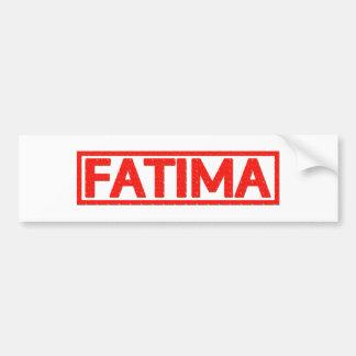 Fatima Stamp Bumper Sticker