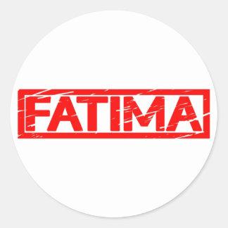 Fatima Stamp Classic Round Sticker