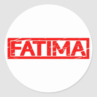 Fatima Stamp Round Sticker