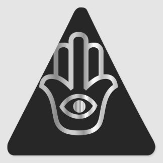 Fatima's Hand- Khamsa religious symbol Triangle Sticker