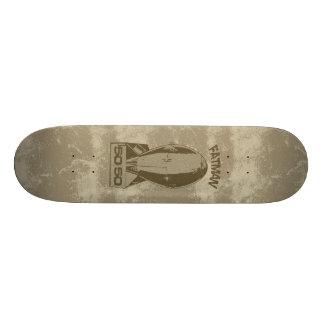 FatMan - Big Gold Bomber Deck Custom Skateboard
