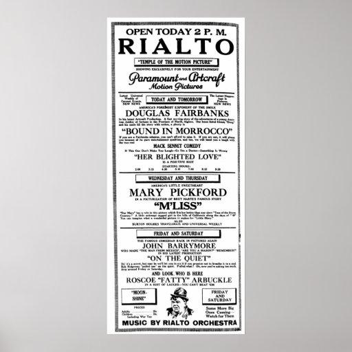 Fatty Arbuckle 1918 vintage movie ad poster