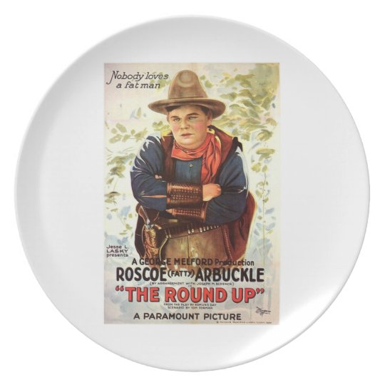 Fatty Arbuckle The Round Up 1920 movie poster Plate