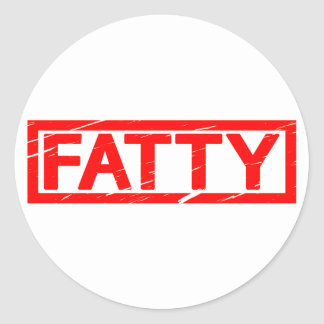 Fatty Stamp Classic Round Sticker