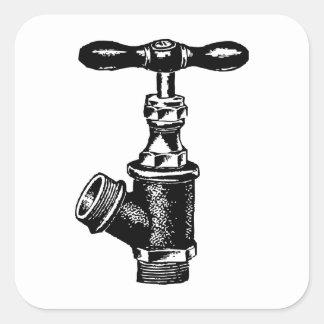 Faucet Square Sticker