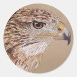 Faucon ferrugineux adhésif rond