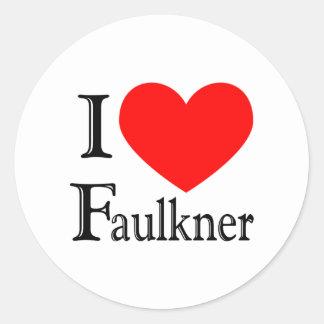 Faulkner Classic Round Sticker