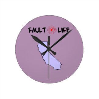 Fault Life California Earthquake Lifestyle Round Clock