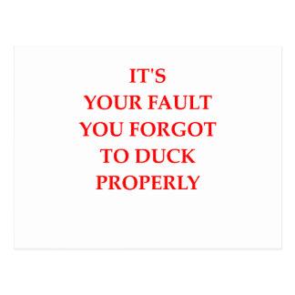 FAULT POSTCARD