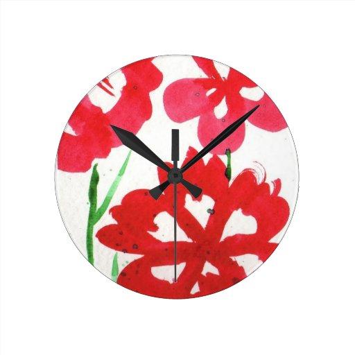 fausses fleurs de marimekko pendules murales zazzle. Black Bedroom Furniture Sets. Home Design Ideas