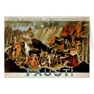 Faust 1887 - Notecard Note Card