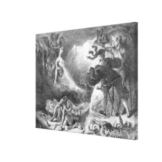 Faust and Mephistopheles at the Witches' Stretched Canvas Prints
