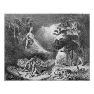 Faust and Mephistopheles at the Witches' Print