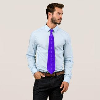 Faust Blue Geometric Floral Pattern Designer Tie