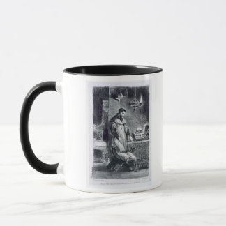 Faust in his Study, from Goethe's Faust, 1828, (il Mug