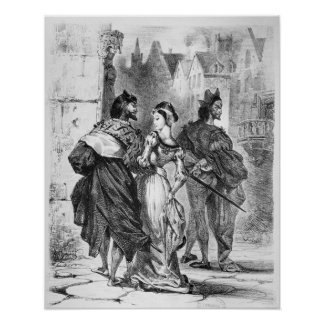 Faust meeting Marguerite Poster