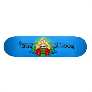 FAUST TATTOOS TRADITIONAL ROSE HINDU GRAFFITI LOGO SKATEBOARD