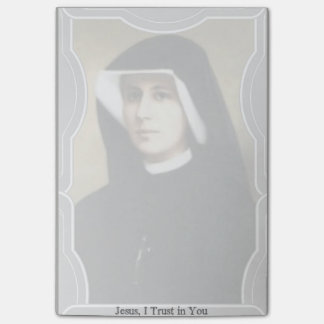 Faustina Divine Mercy Postal Saints Post-it Notes