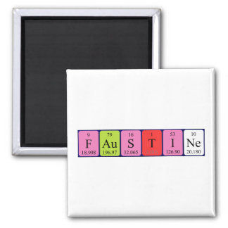 Faustine periodic table name magnet