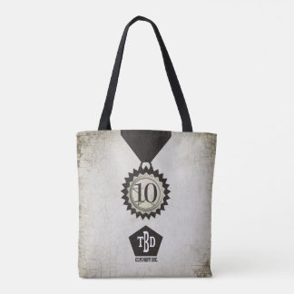 Faux aged stone employee anniversary gifts tote bag