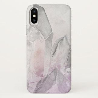 *~* Faux Amethyst Chakra Crystal Healing Energy iPhone X Case