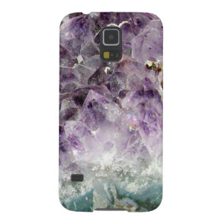 Faux amethyst crystal geode gemstone photo hipster galaxy s5 covers