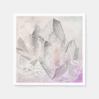 *~*  Faux Amethyst Crystal Healing Energy Chakra Paper Napkin