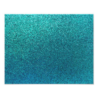 Faux Aqua Teal Turquoise Blue Glitter Background Photo