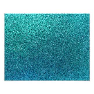 Faux Aqua Teal Turquoise Blue Glitter Background Photo