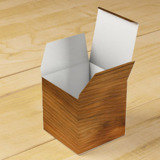 Faux Barn Wood Party Favor Box